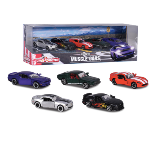 Majorette - Ensemble 5 voitures Muscle cars