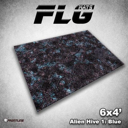 PLAYMAT - FLG Alien Hive Blue 6'x4'