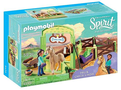 PLAYMOBIL - Spirit - Apo et Chica Linda avec box
