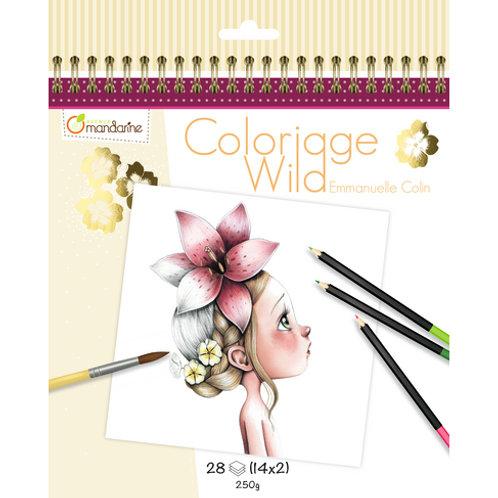 Avenue Mandarine - Carnet de coloriage collector Wild 1