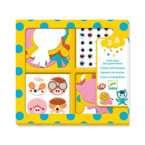 Djeco - Gommettes et Stickers - Les Animaux