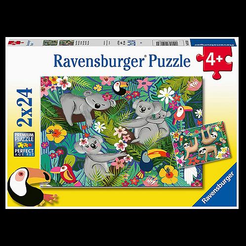 2 x 24 Pcs - Ravensburger - Koala et paresseux
