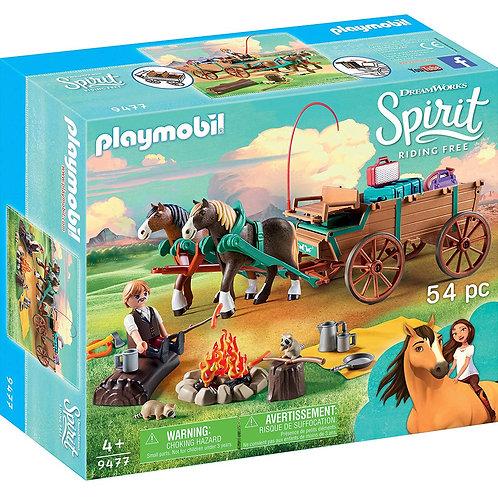 **PLAYMOBIL - Spirit - Jim et charrette