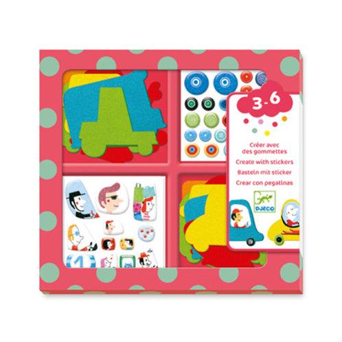 Djeco - Gommettes et Stickers - Les Voitures