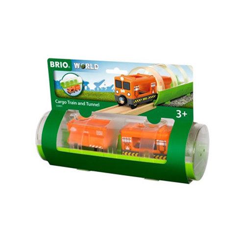 Brio - Train Cargo et tunnel