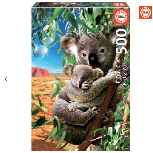 500 pcs - Maman koala & son bébé - Educa
