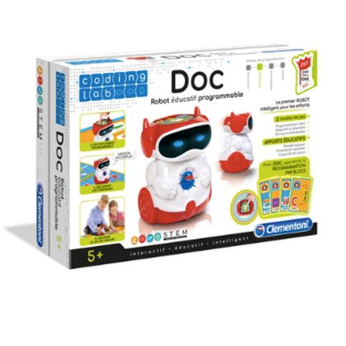 Clementoni - Doc, Robot éducatif Parlant Programmable VF