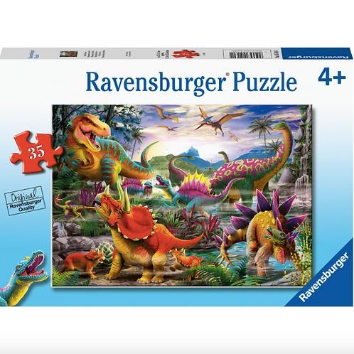 35 Pcs Dinosaures colorés