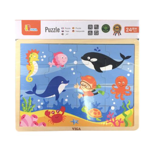 16 pcs - Puzzle de bois Scène de l'Océan