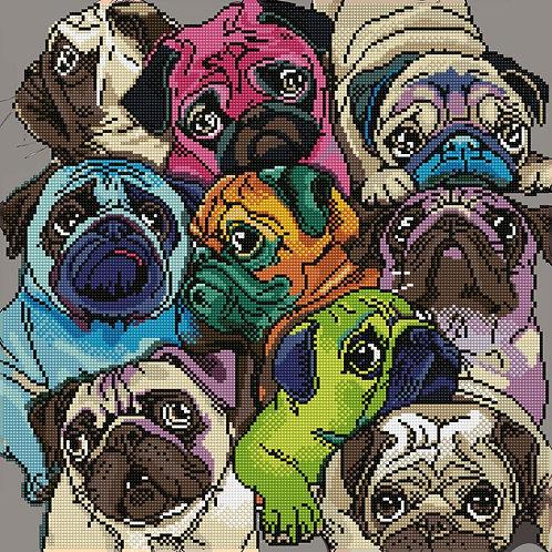 Diamond Dotz - Un Monde de Pugs