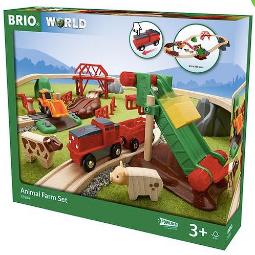 Brio - Circuit de la ferme avec locomotive à piles