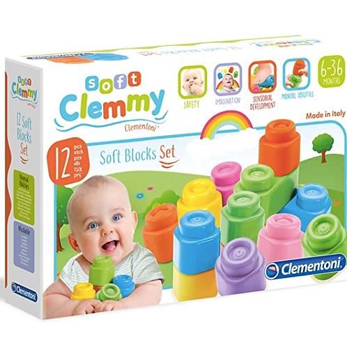Baby Clementoni - Clemmy Soft blocks Set 12pcs.