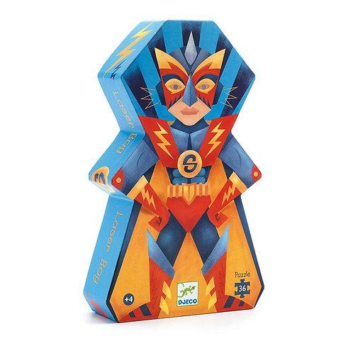 Djeco -36 pcs Puzzle silhouette - Laser boy