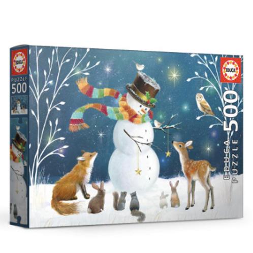 500 pcs - Bonhomme de neige et ses amis - Educa