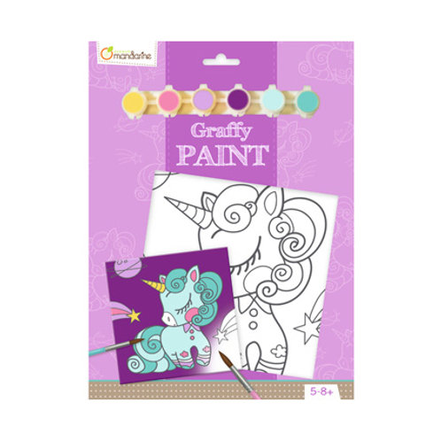 Avenue Mandarine - Graffy Paint - Licorne