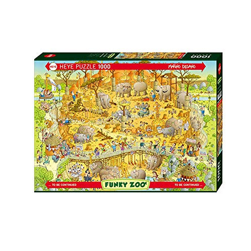 1000 pcs - HEYE - Funky zoo - African habitat