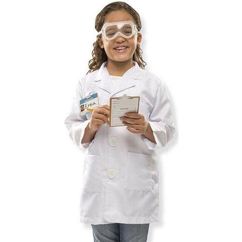 Costume de scientifique 3-4 ans +
