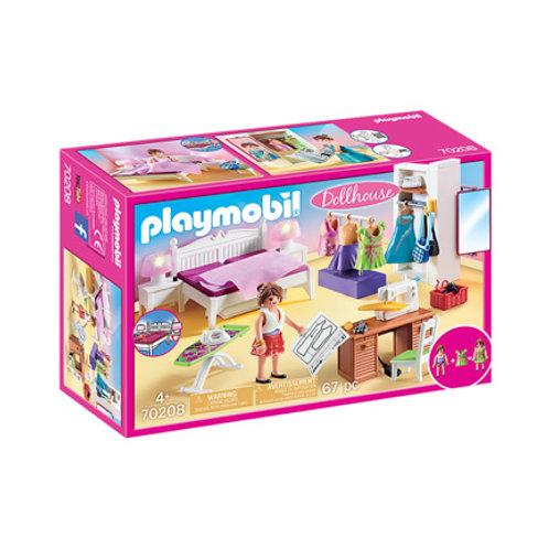 PLAYMOBIL - Dollhouse - Chambre avec espace couture