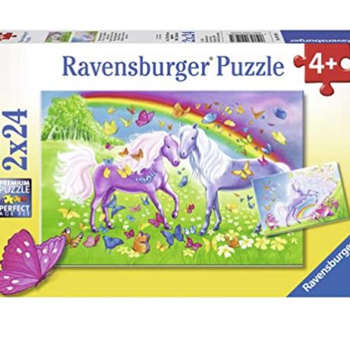 2x24 Pcs - Ravensburger - Chevaux et papillons