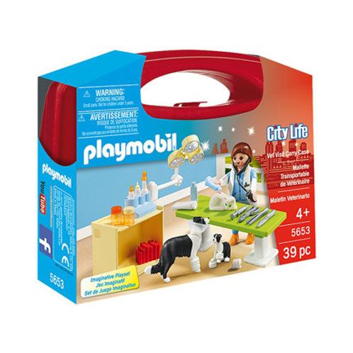 PLAYMOBIL - City Life - Mallette Transportable de Vétérinaire