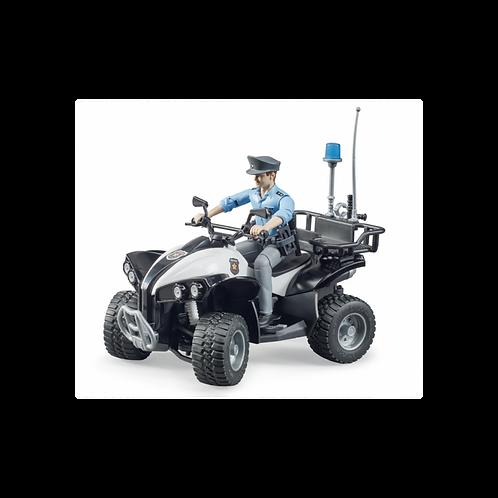 Bruder - Police quad avec policier et accessoires