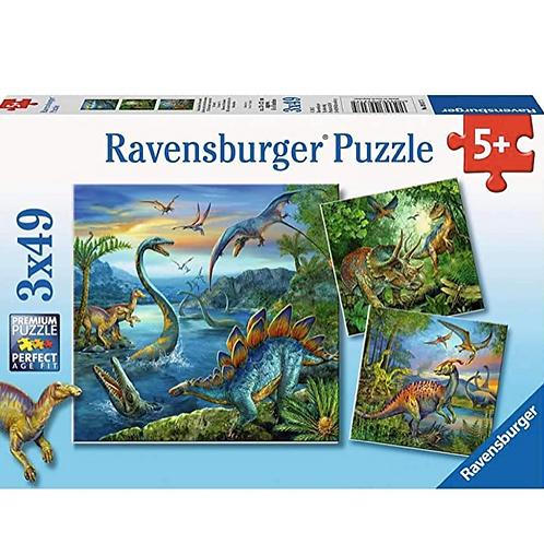3x49 Pcs La fascination des dinosaures