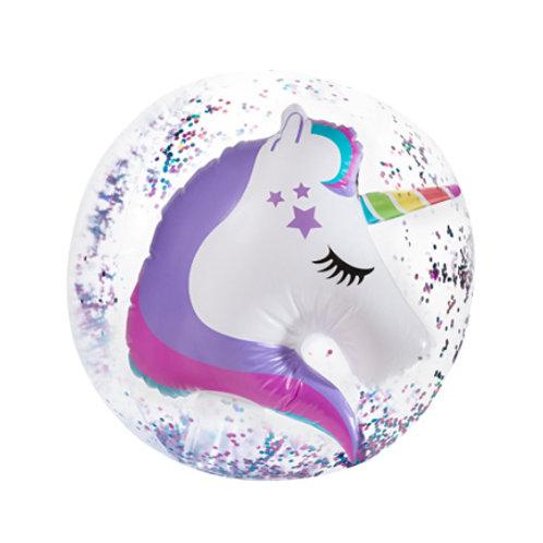 Ballon de plage 3D Confetti Licorne 24''