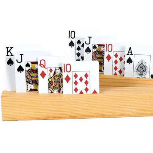 2 Supports à cartes en bois ( 4 rangées) 11''