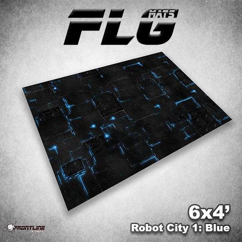 Playmat - 6x 4 - FLG - Robot City Blue