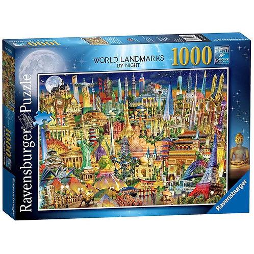 1000 Pcs - World Landmarks by night