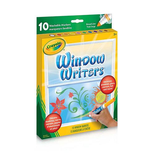 Crayola - 10 marqueurs pour fenêtre lavable