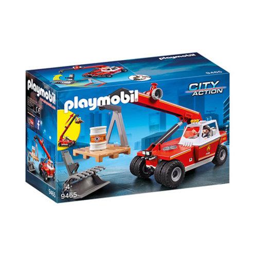 PLAYMOBIL - City Action - Pompier avec véhicule et bras téléscopique