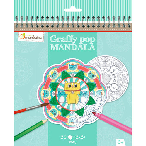Avenue Mandarine - Graffy Pop Mandala, Animaux