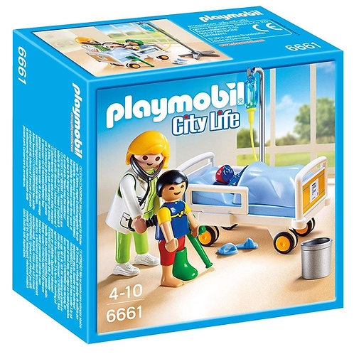 PLAYMOBIL - City Life - Chambre d'enfant avec médecin