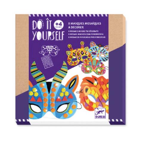DIY Masques mosaïques à décorer