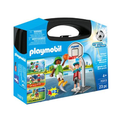 PLAYMOBIL - Sport et Action - Valisette Multi-Sports Garçons
