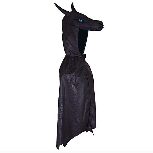 Cape de dragon de nuit noir 5-6 ans