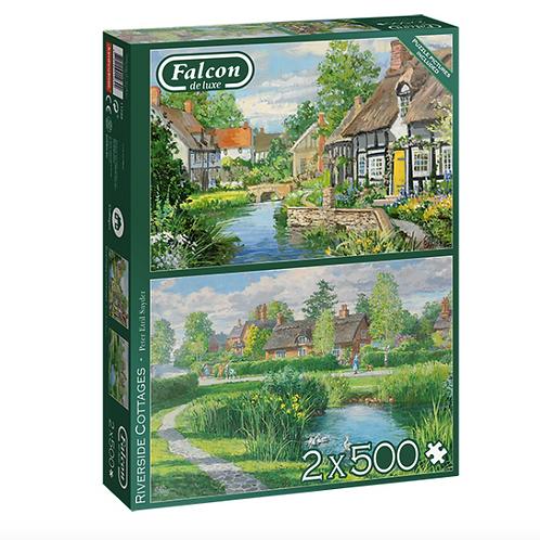 2 x 500 Pcs - Falcon - Riverside cottage