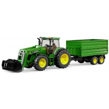 BRUDER - John Deere 7930 -Tracteur avec chargeur frontal et remorque