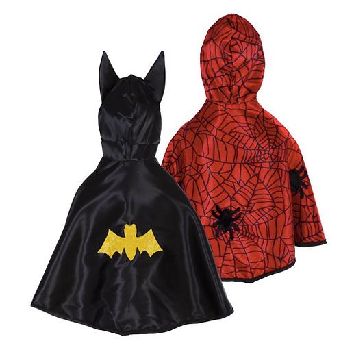 Cape réversible spider-man et Batman 1-2 ans