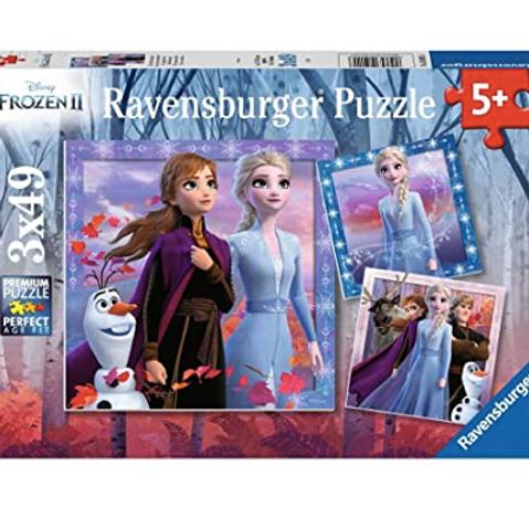 3x49 pcs Frozen 2 - Le voyage commence