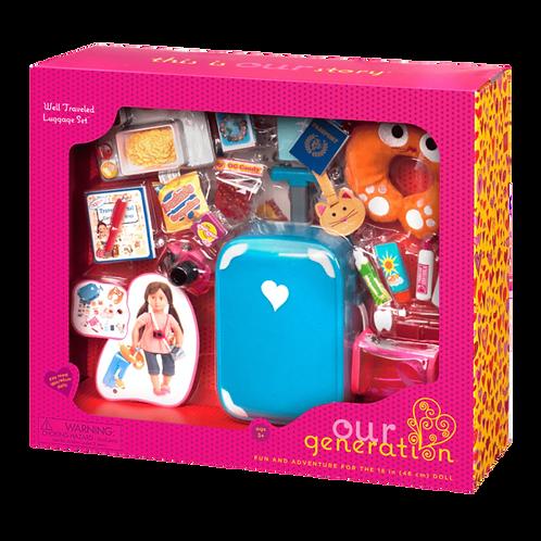 """Accessoires OG - """"Well Traveled Luggage Set"""" pour poupée de 46 cm"""
