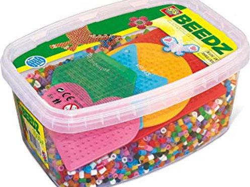 SES - Mélange de 7000 Perles à repasser et 5 plaques