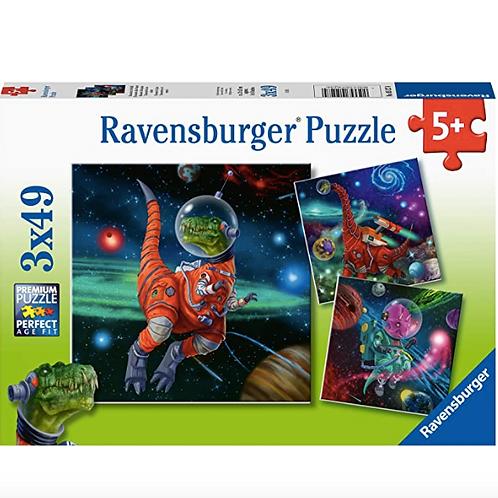 3x49 Pcs - Dinosaures dans l'espace