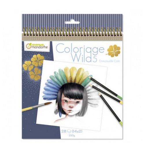 Avenue Mandarine - Carnet de coloriage collector Wild 5
