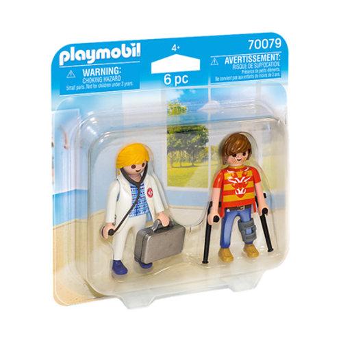 PLAYMOBIL - City Life - Médecin et patient