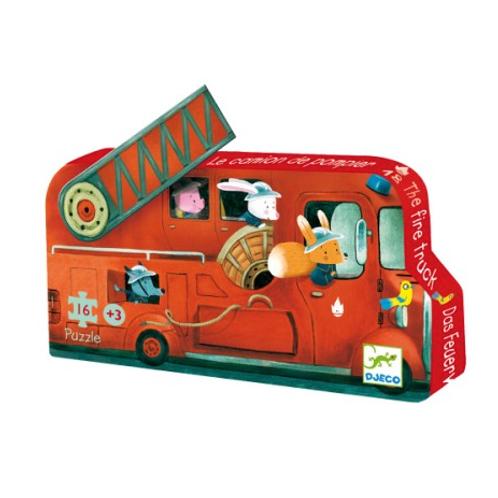 Djeco - Puzzle pompier 16 pièces