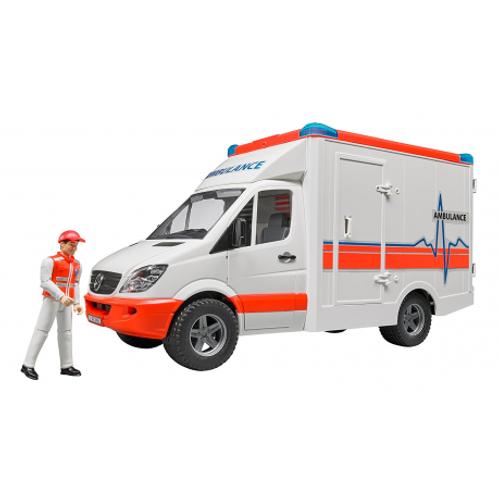 BRUDER - Ambulance MERCEDES BENZ Sprinter avec ambulancier