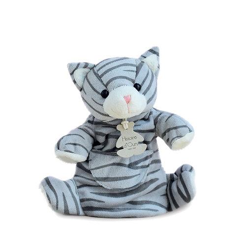 Marionnette classique - Chat tigré 25 cm