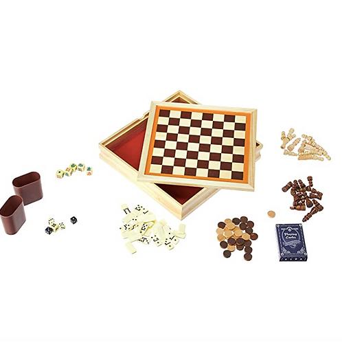 CHH - Jeu d'échecs en bois 6 en 1